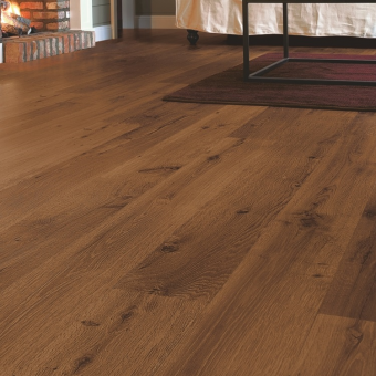 Quickstep Eligna vinatge oak dark varnished