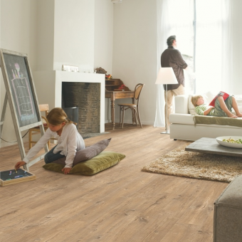 Quickstep Eligna Wide Oak With Saw Cuts Nature