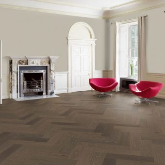 truffle Oak Brushed Matt Lacquered Herringbone