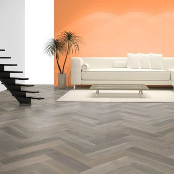 clay grey Oak Brushed Matt Lacquered Herringbone