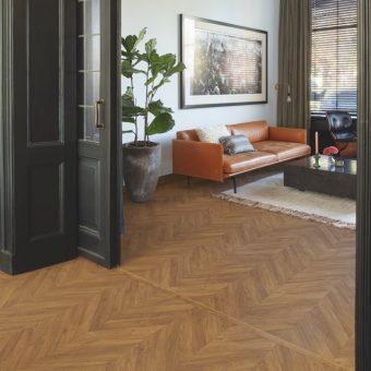 Quickstep Impressive Patterns Chevron Oak Brown