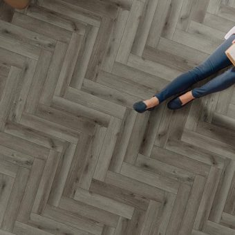 hene Firmfit Boutique EW2557 Shelby Grey Herringbone flooring
